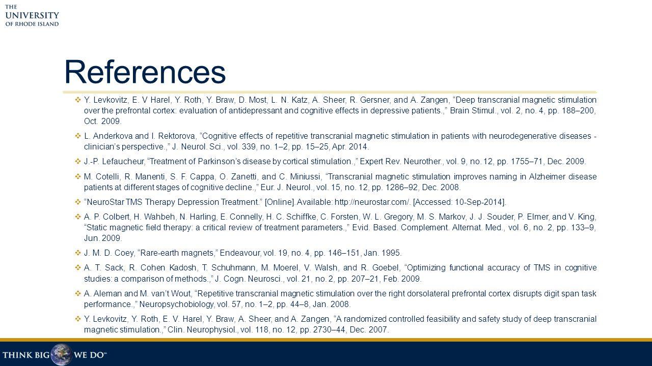 References  Y. Levkovitz, E. V Harel, Y. Roth, Y.