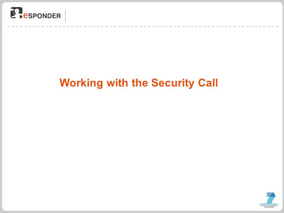 Working with the Security Call