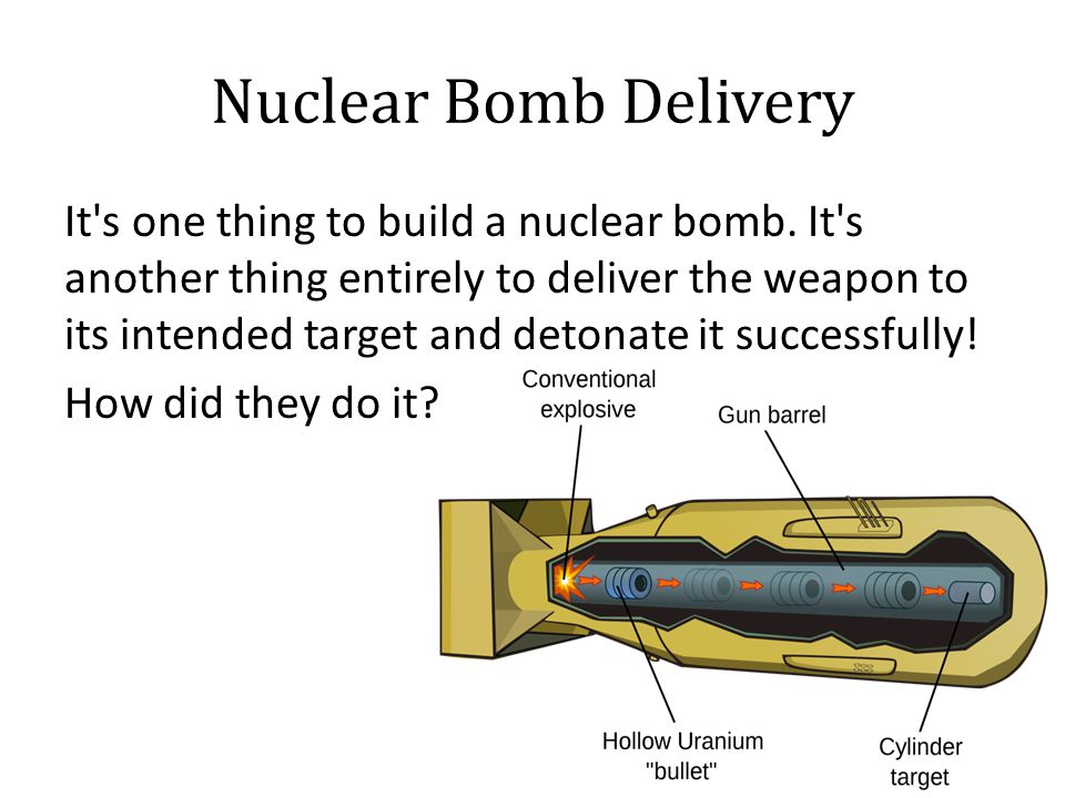 Nuclear Bomb Delivery It s one thing to build a nuclear bomb.