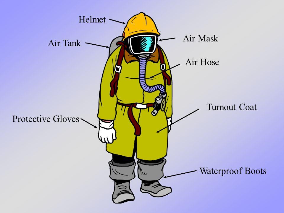 Turnout Coat Air Tank Protective Gloves Air Mask Helmet Air Hose Waterproof Boots