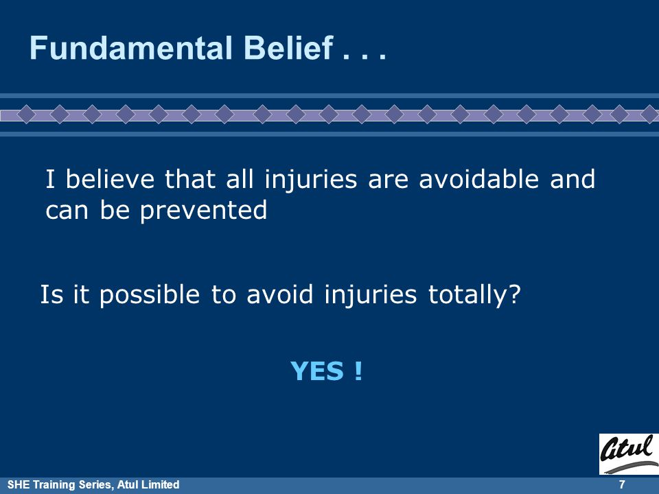 SHE Training Series, Atul Limited7 Fundamental Belief...