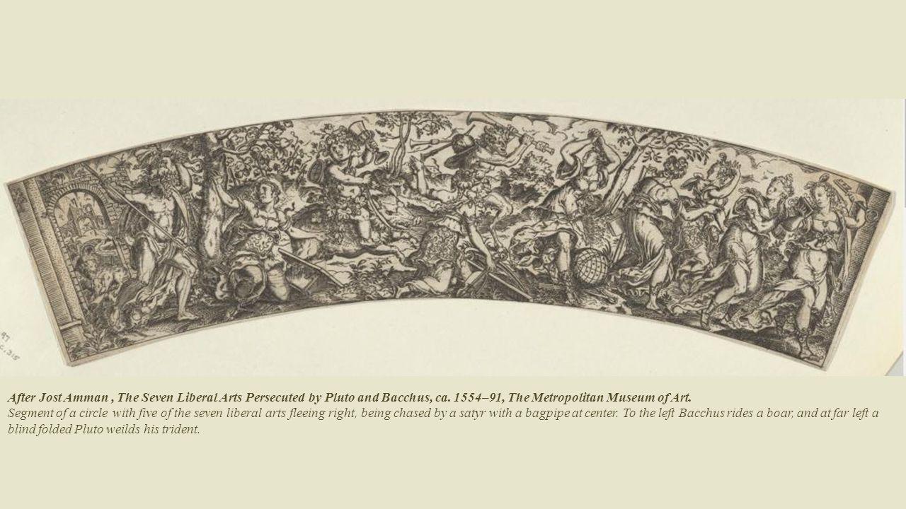 Print by Cornelis Schut, Allegorical scene on the seven Liberal Arts.