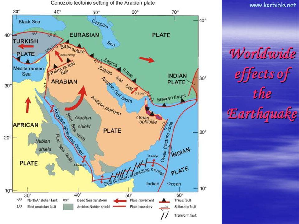 www.korbible.net Worldwide effects of the Earthquake