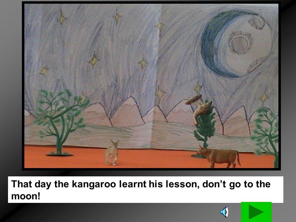 He sneezed so big that he shot the kangaroo back home!