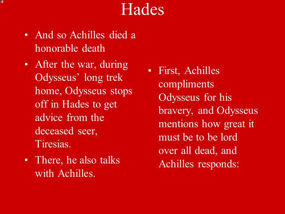 Trojan War Achilles was a stand out warrior.