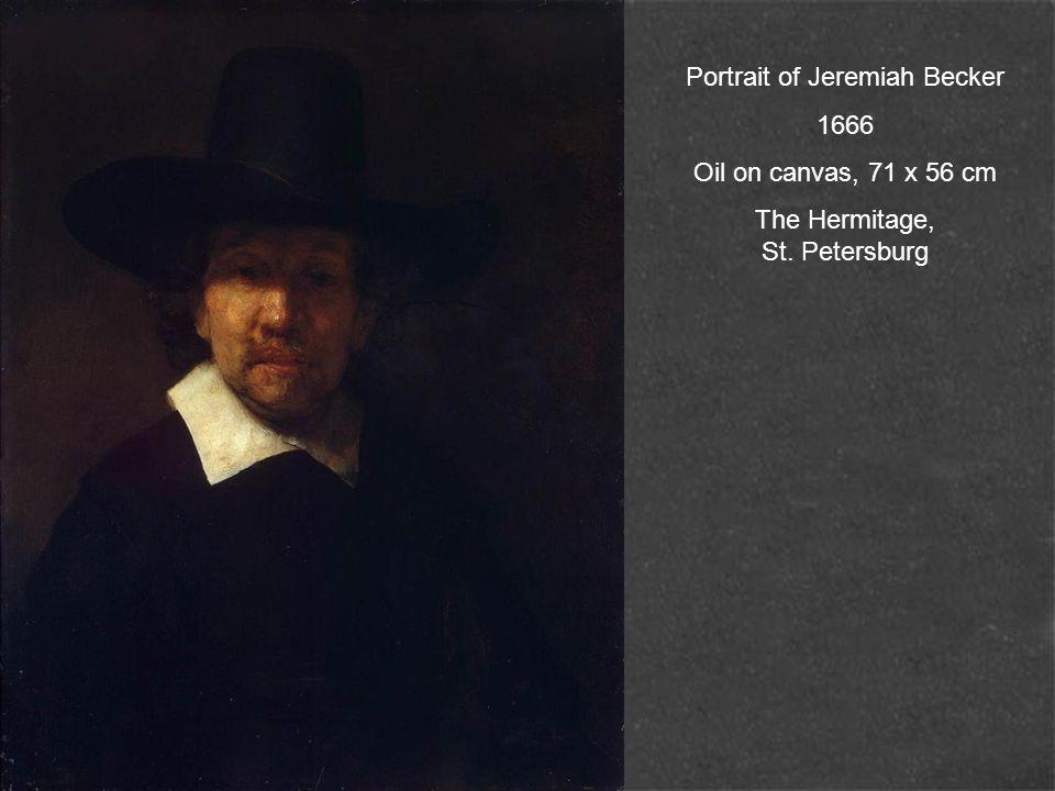 Portrait of an Old Man 1665 Oil on canvas, 104 x 86 cm Galleria degli Uffizi, Florence