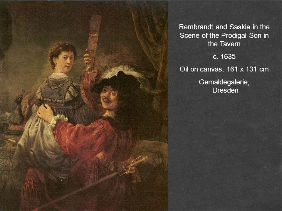Portrait of Saskia with a Flower 1641 Oil on wood, 98,5 x 82,5 Gemäldegalerie, Dresden