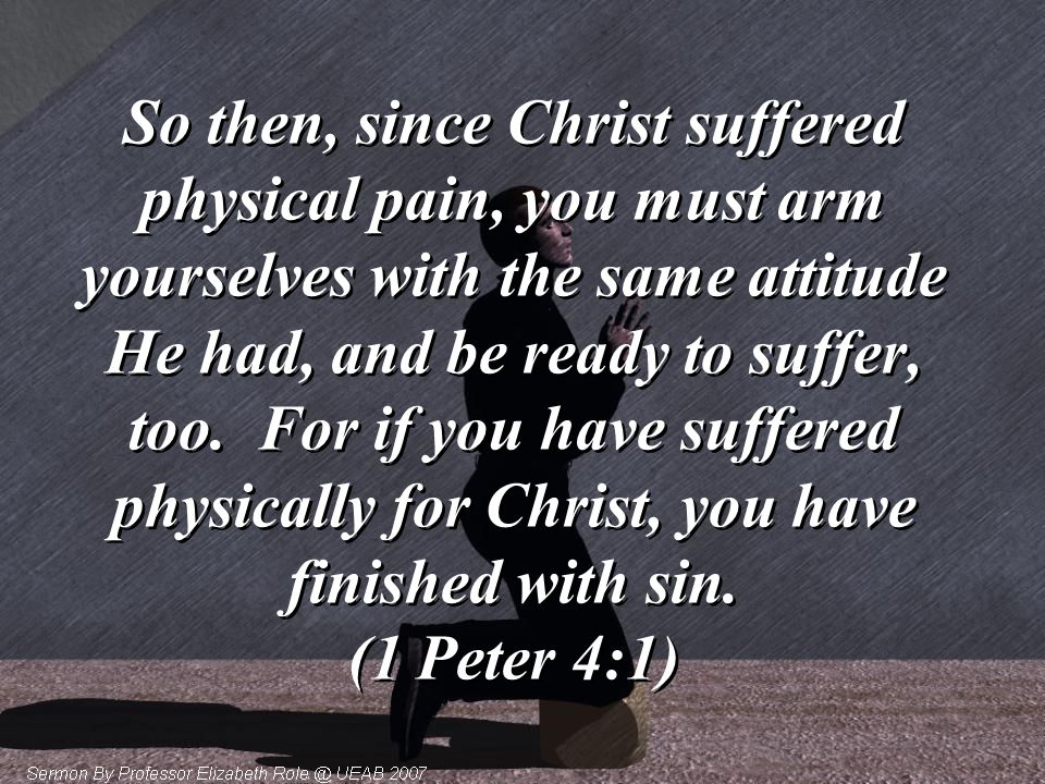 God allowed and even demanded that Jesus go through horrible suffering in order to make a way for us to be saved.