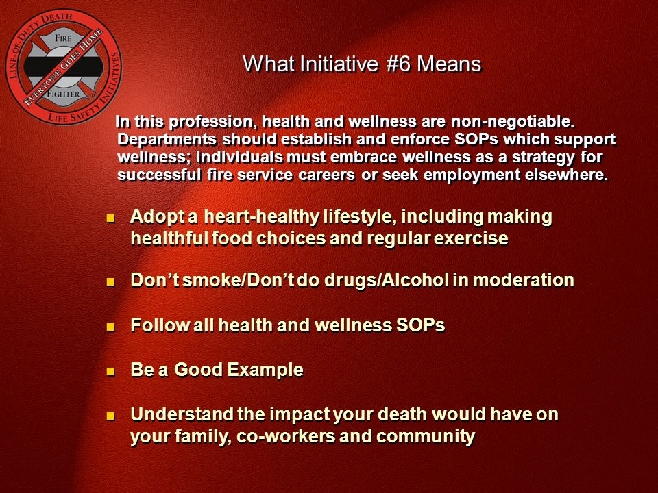 In this profession, health and wellness are non-negotiable.