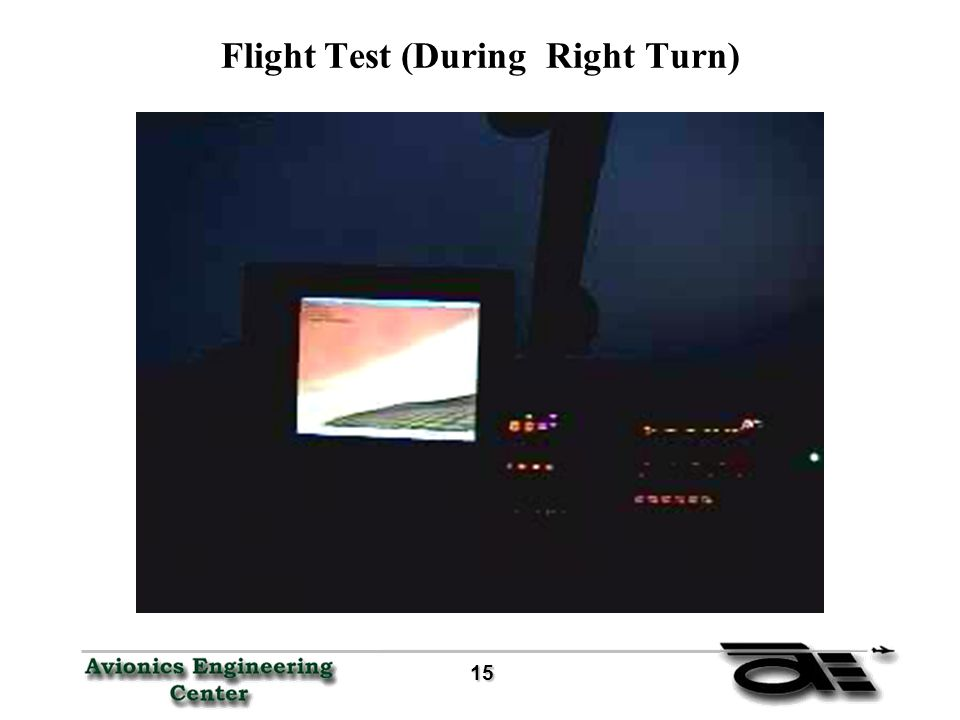 15 15 Flight Test (During Right Turn)