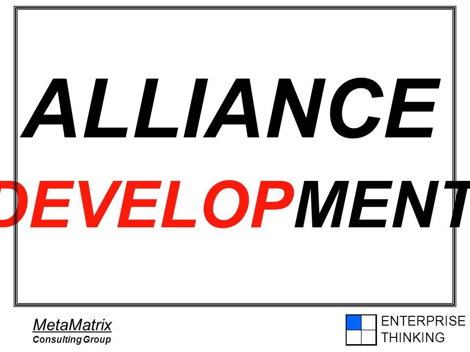 ENTERPRISE THINKING MetaMatrix Consulting Group ALLIANCE DEVELOPMENT