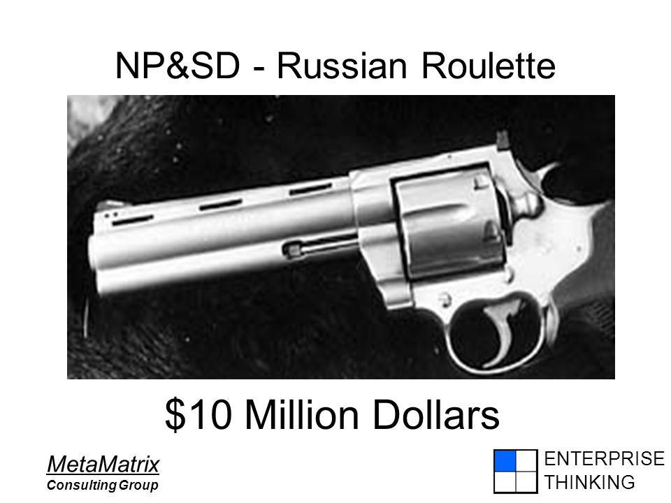 ENTERPRISE THINKING MetaMatrix Consulting Group NP&SD - Russian Roulette $10 Million Dollars
