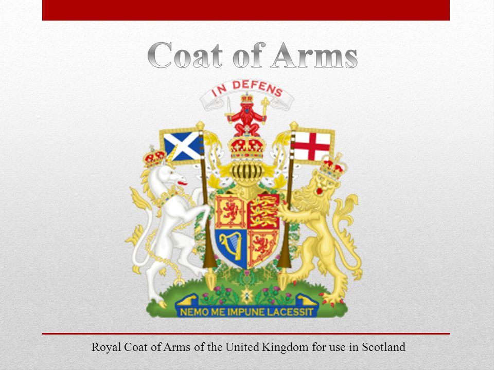 Royal Coat of Arms of the United Kingdom for use in Scotland