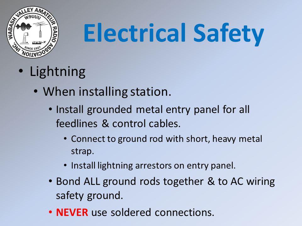 Lightning When installing station.