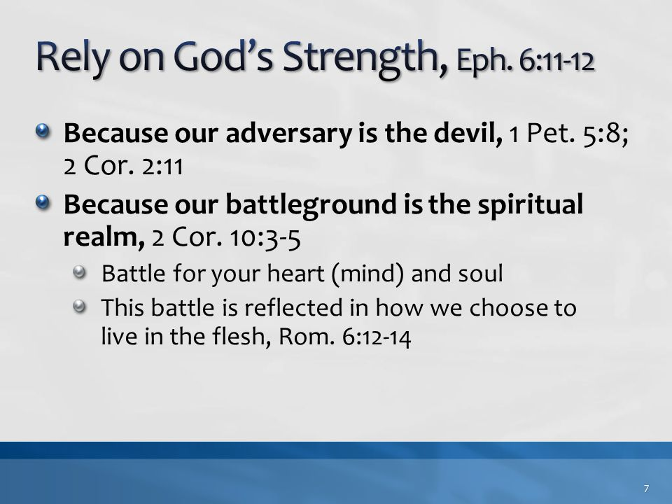 Because our adversary is the devil, 1 Pet.5:8; 2 Cor.