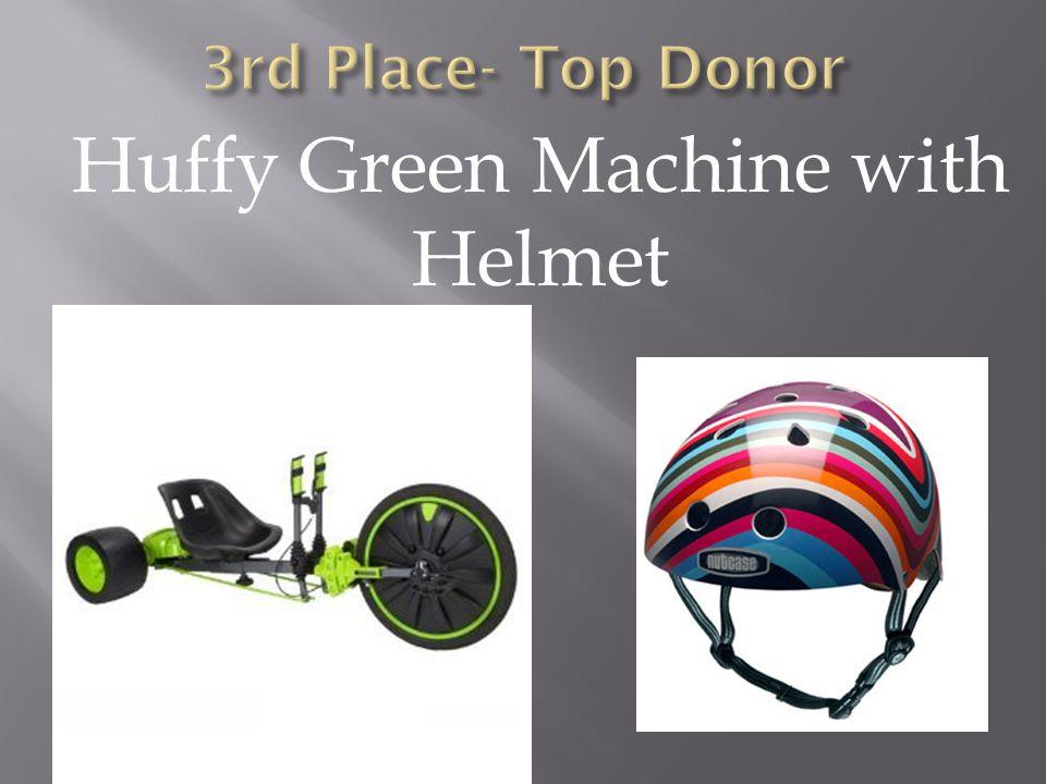 Huffy Green Machine with Helmet