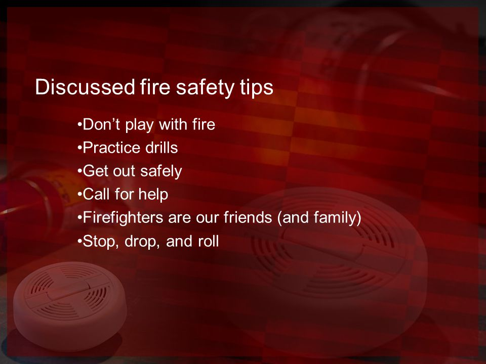 "Reading ""Fire Safety"" by Nancy Loewen"