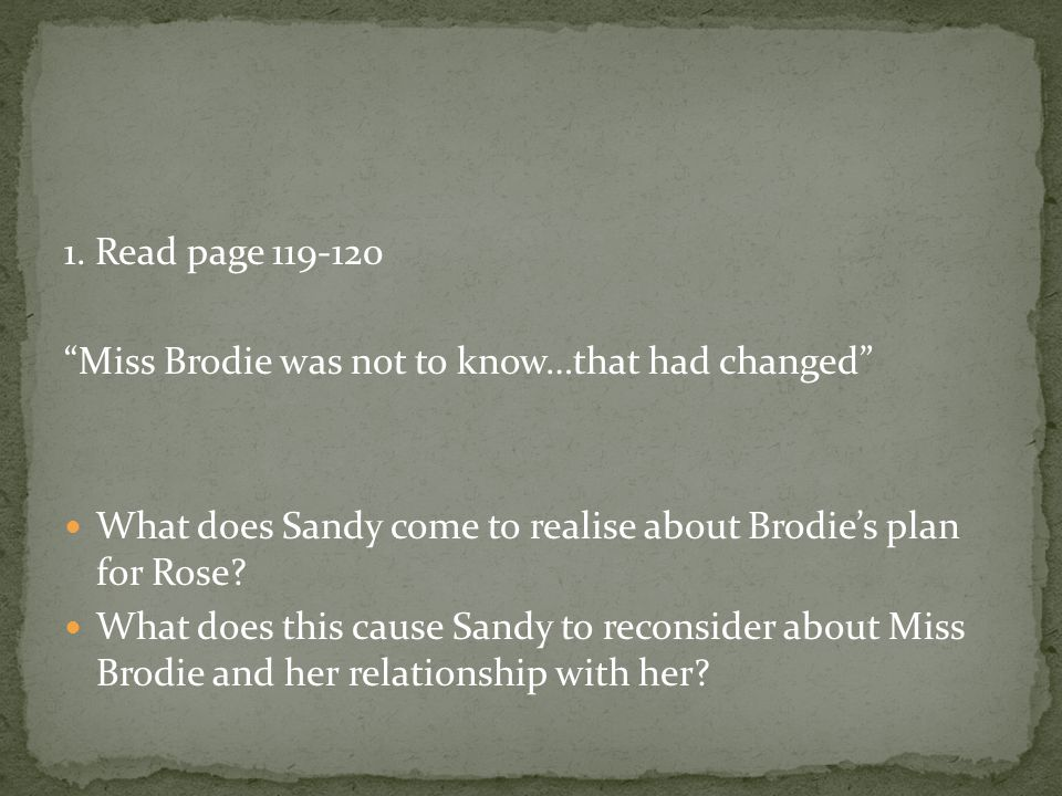 2.During the summer of 1938, Sandy (aged 18) begins an affair with Teddy Lloyd.
