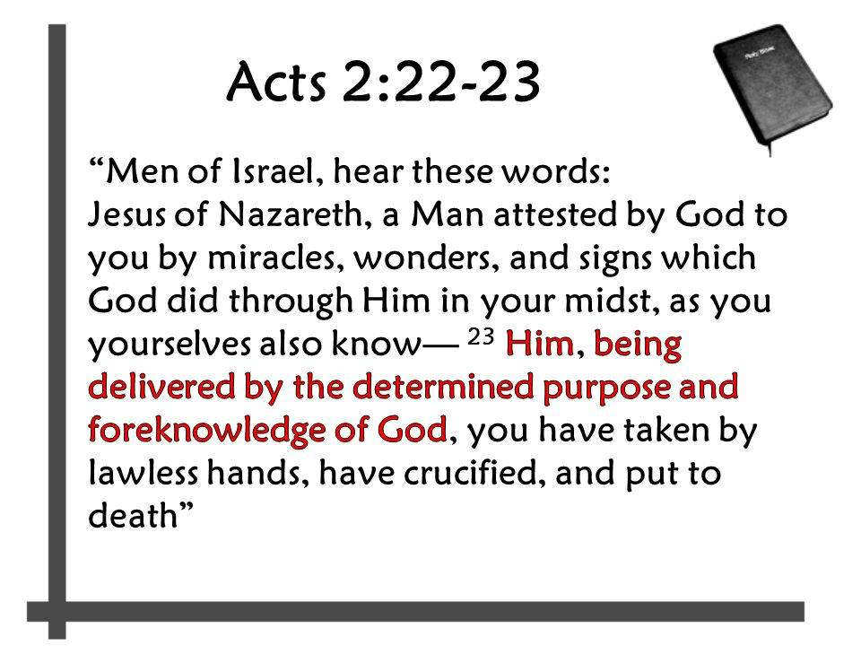 Acts 2:22-23