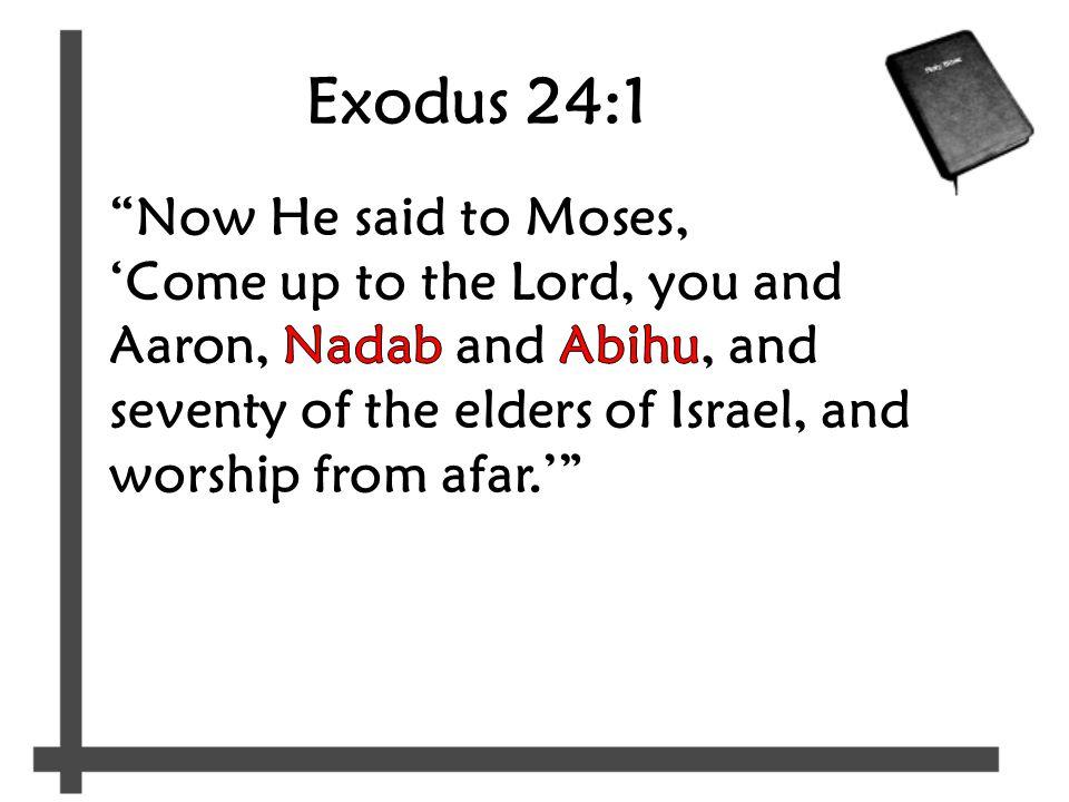 Exodus 24:1