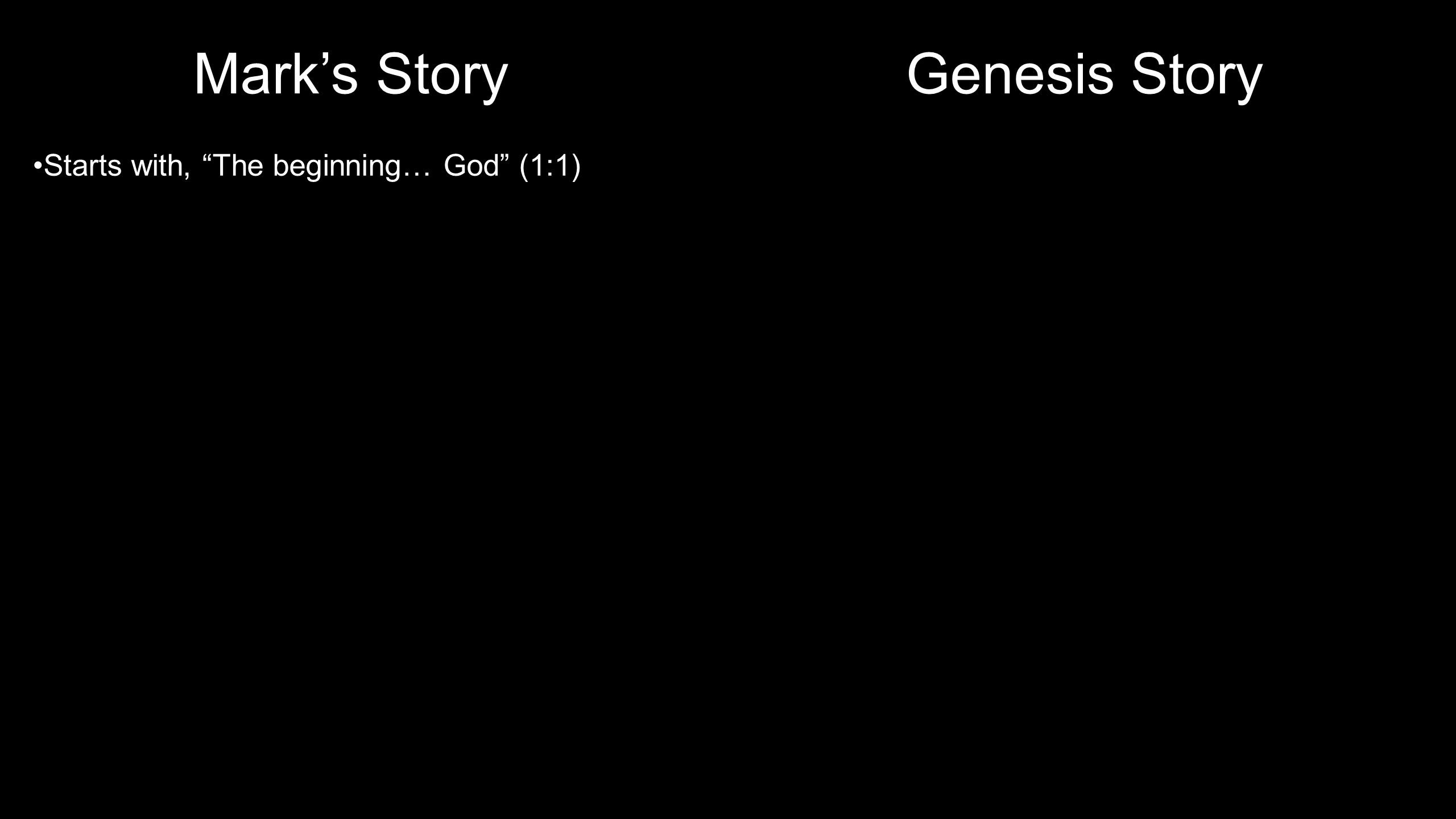 "Genesis Story Starts with, ""In the beginning, God…"" (1:1) ""The Spirit of God was hovering (""fluttering"") over the waters"" (1:2) God, the Spirit, and G"