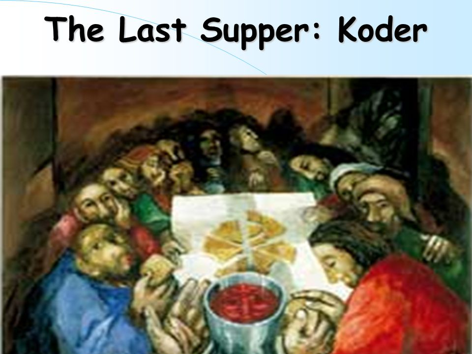 Imagine that you are at the Last Supper… Close your eyes and imagine that you are in the Upper room with Jesus and that he has just announced that he is going to die and that someone would betray him.