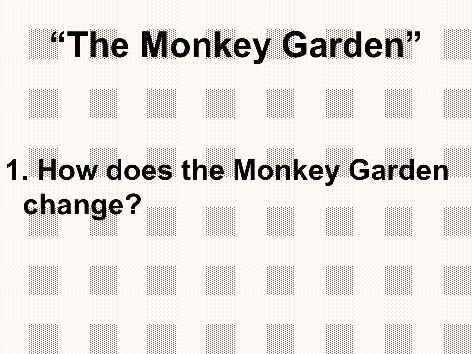 The Monkey Garden 1. How does the Monkey Garden change?