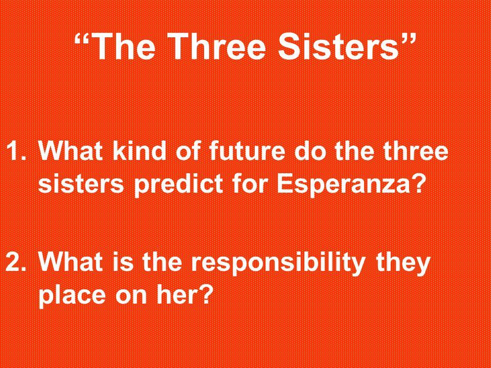 The Three Sisters 1.What kind of future do the three sisters predict for Esperanza.