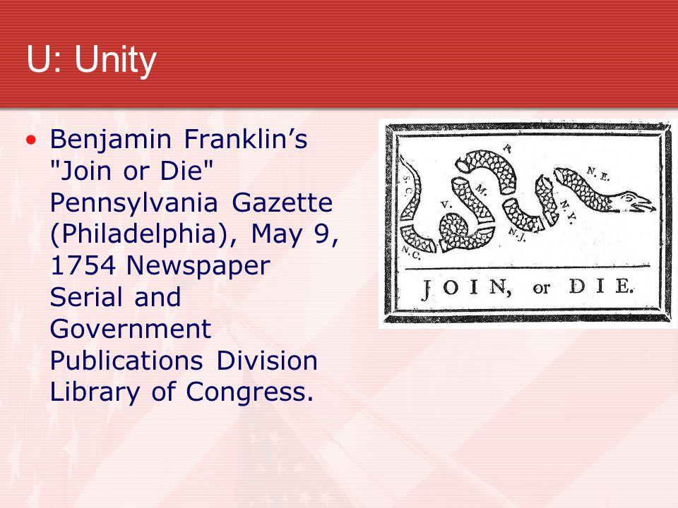 U: Unity Benjamin Franklin's