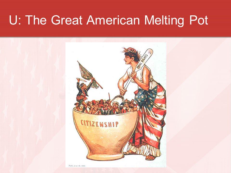 U: The Great American Melting Pot