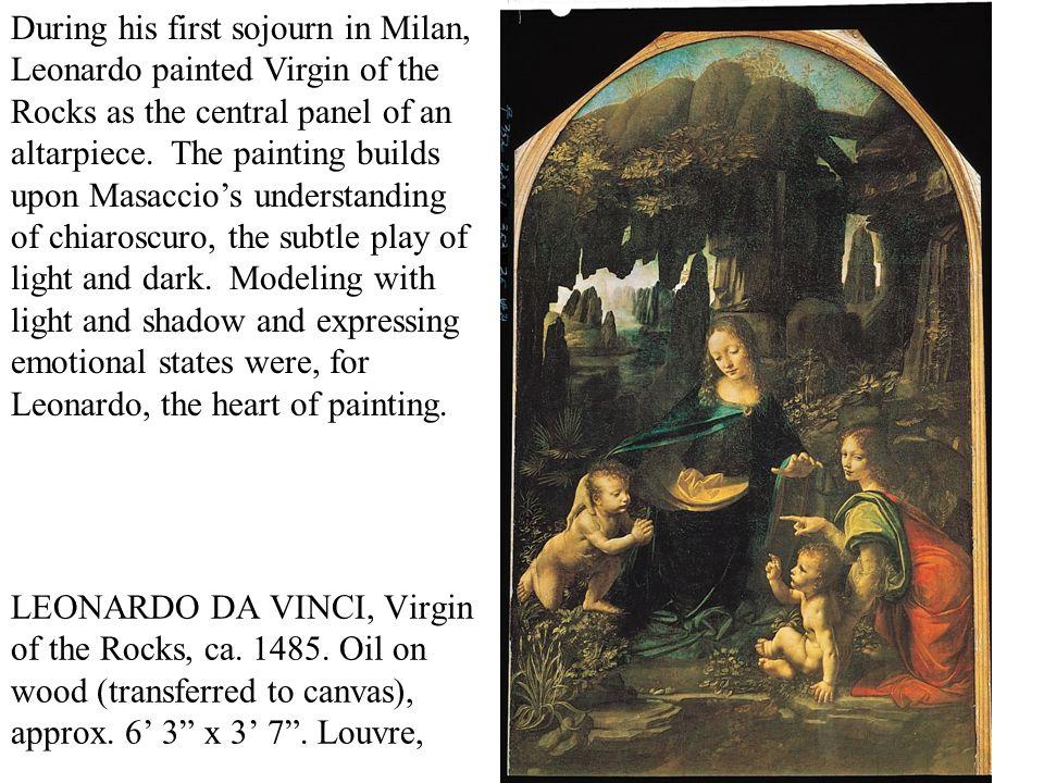 LEONARDO DA VINCI, Virgin of the Rocks, ca. 1485.