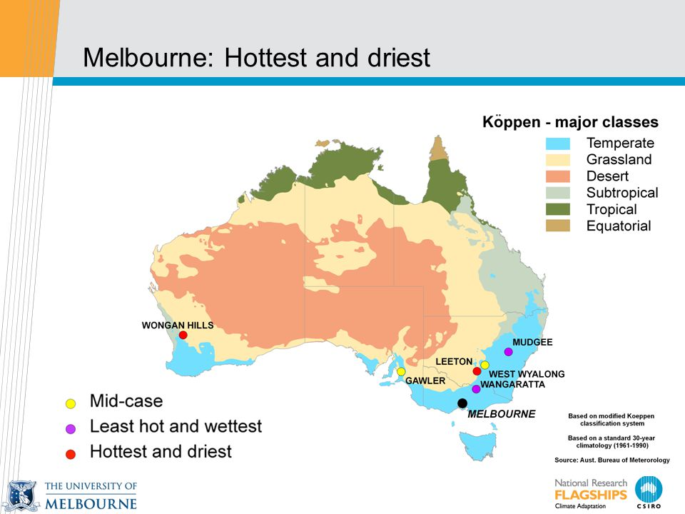 Melbourne: Hottest and driest