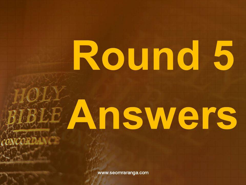 Round 5 Answers www.seomraranga.com