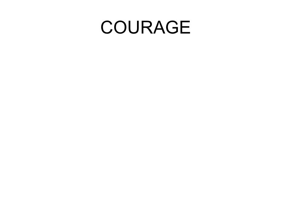 Courage is an idea empasised by a number of characters.