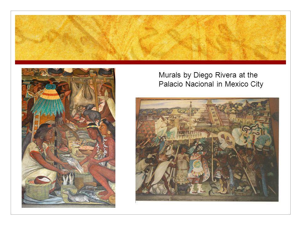 Murals by Diego Rivera at the Palacio Nacional in Mexico City