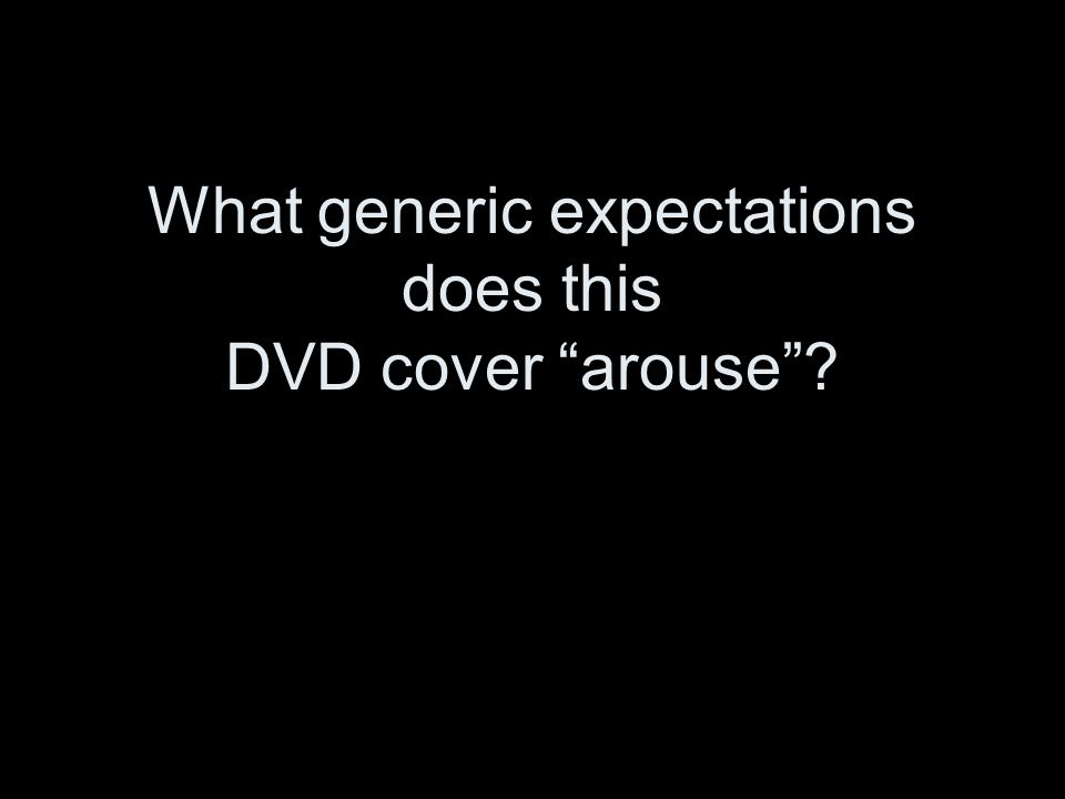 "What generic expectations does this DVD cover ""arouse""?"