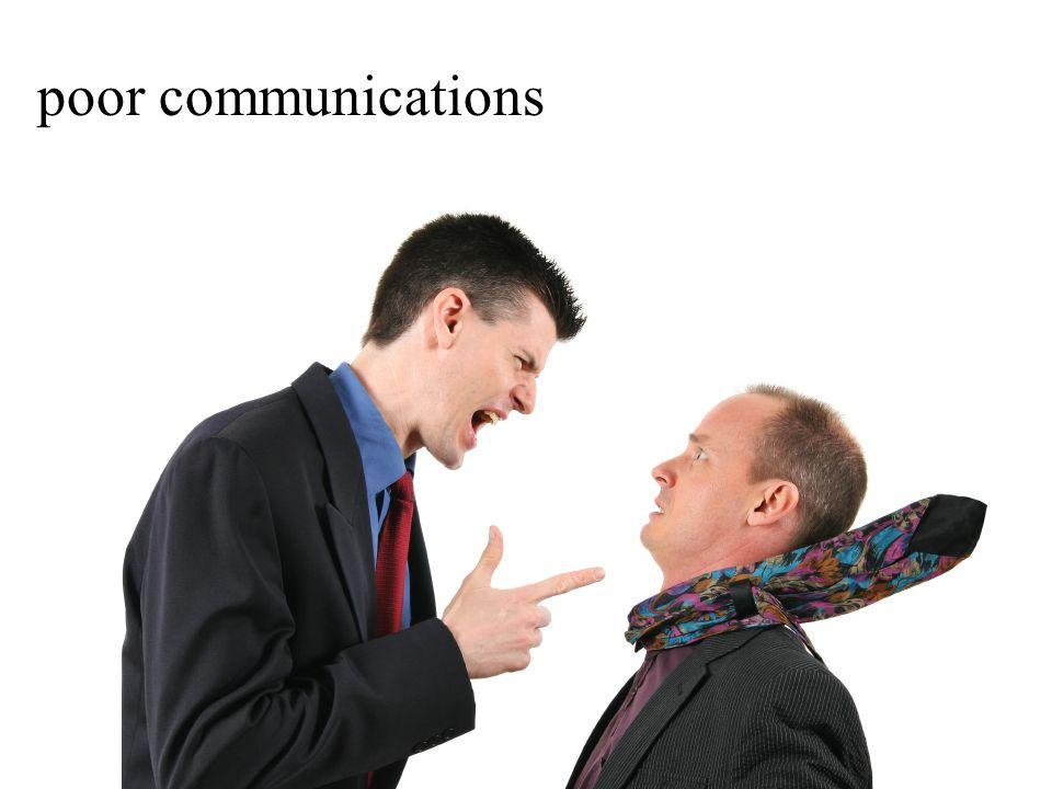 poor communications