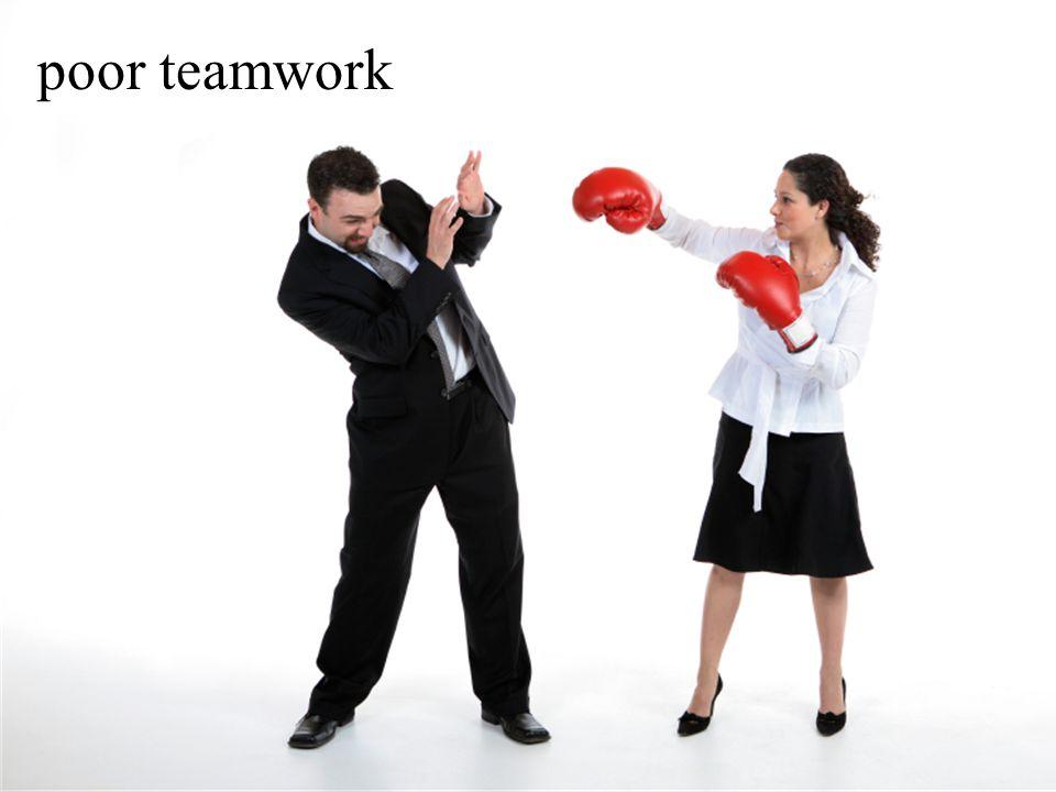 poor teamwork