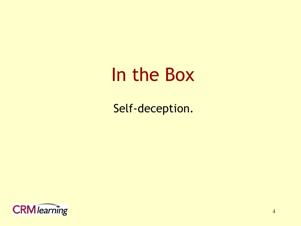 4 In the Box Self-deception.