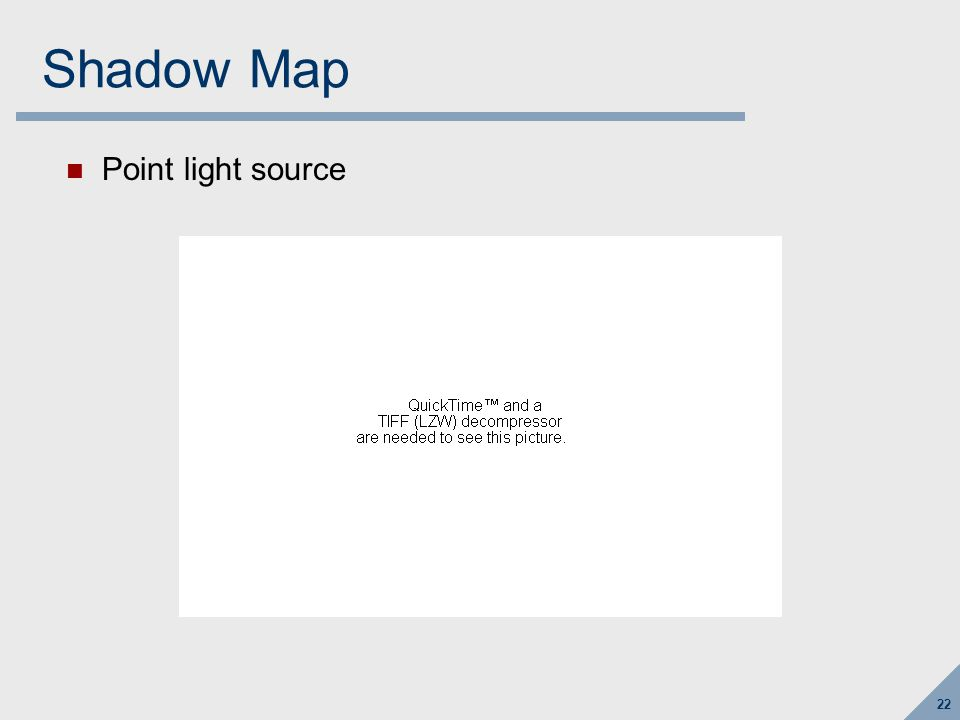 22 Shadow Map Point light source