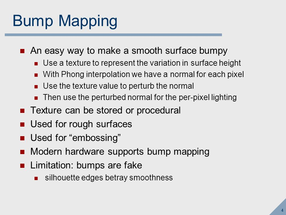 5 Bump mapping