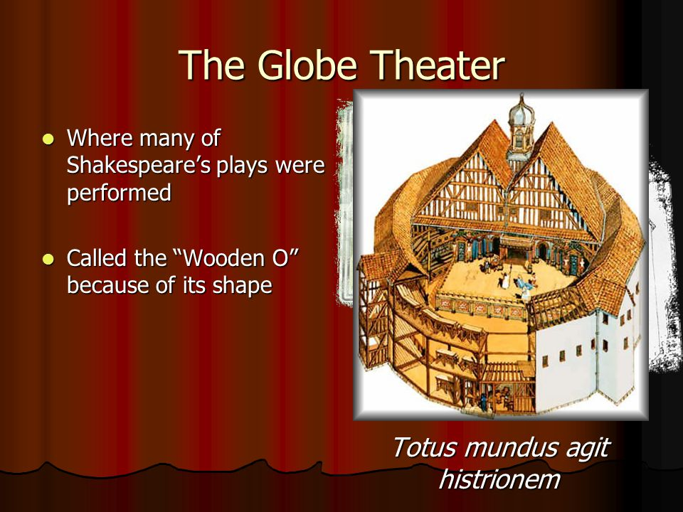 "The Globe Theater Where many of Shakespeare's plays were performed Where many of Shakespeare's plays were performed Called the ""Wooden O"" because of i"