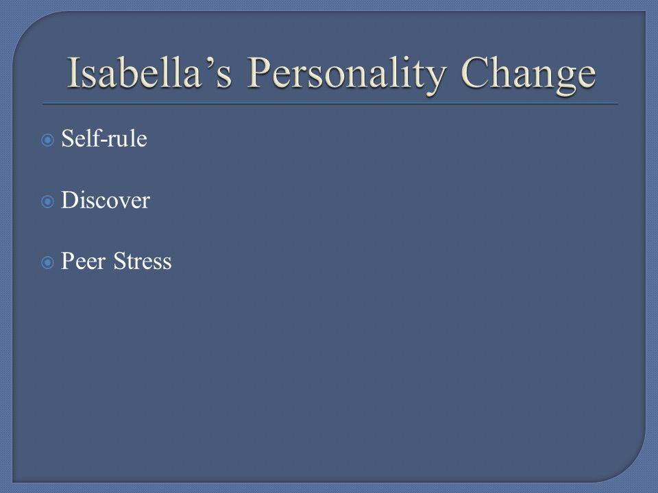  Self-rule  Discover  Peer Stress
