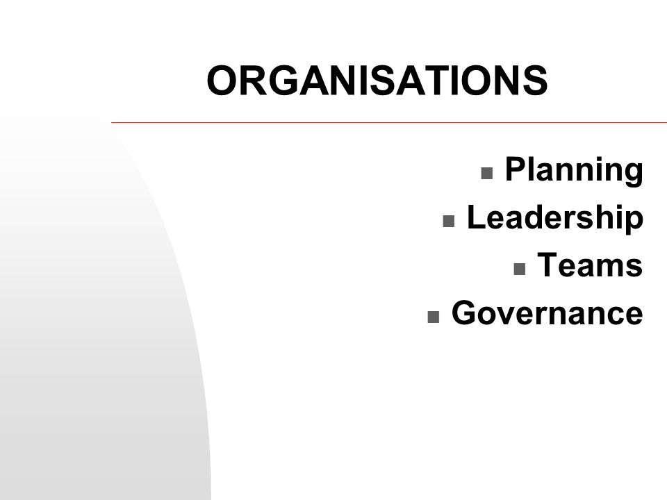 Sources of organisational power POSITION Power based on a person's role or job title.