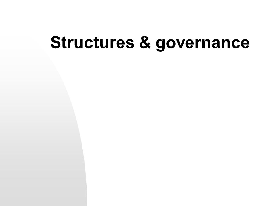 Structures & governance
