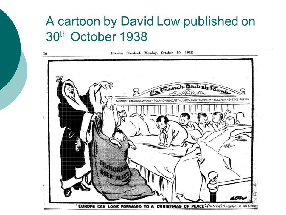 A cartoon by David Low published on 30 th October 1938