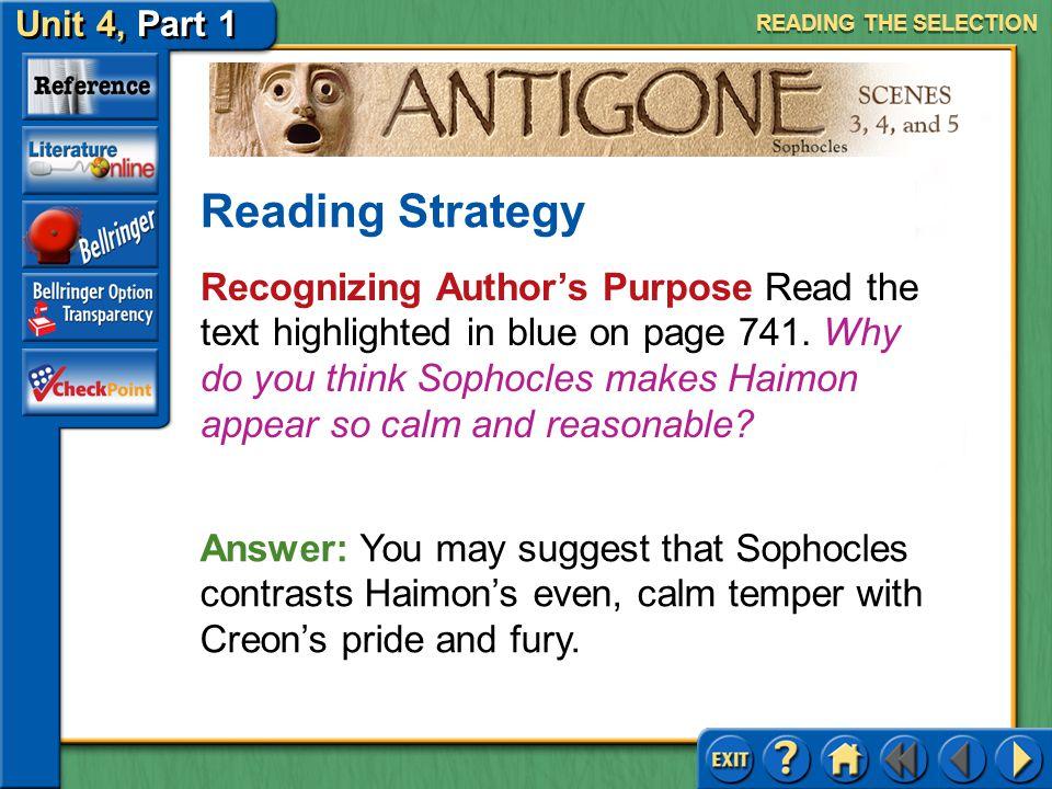 Unit 4, Part 1 Antigone, Scenes 3, 4, and 5