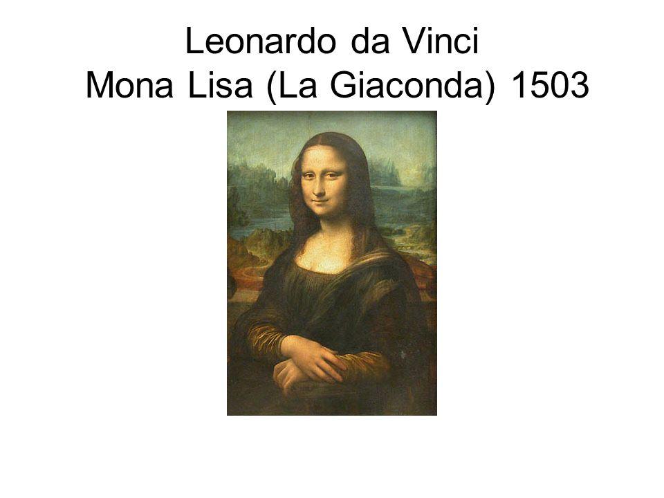 Leonardo da Vinci Mona Lisa (La Giaconda) 1503