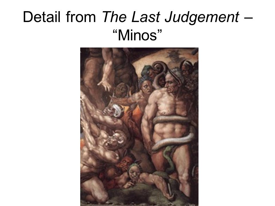 Detail from The Last Judgement – Minos
