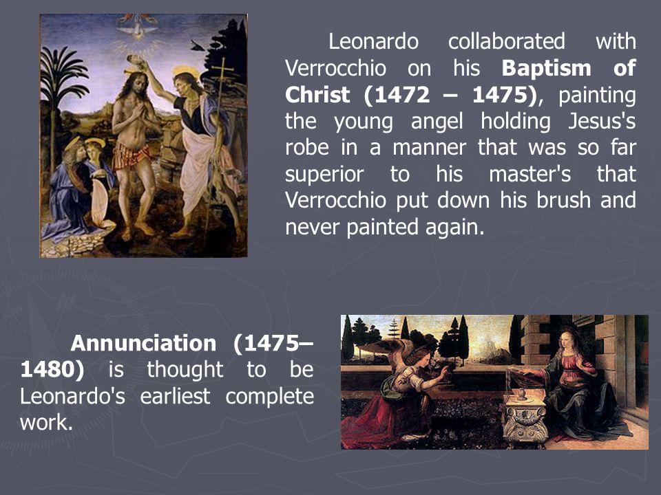 The Virgin of the Rocks (1483–1486) demonstrates Leonardo s interest in nature.